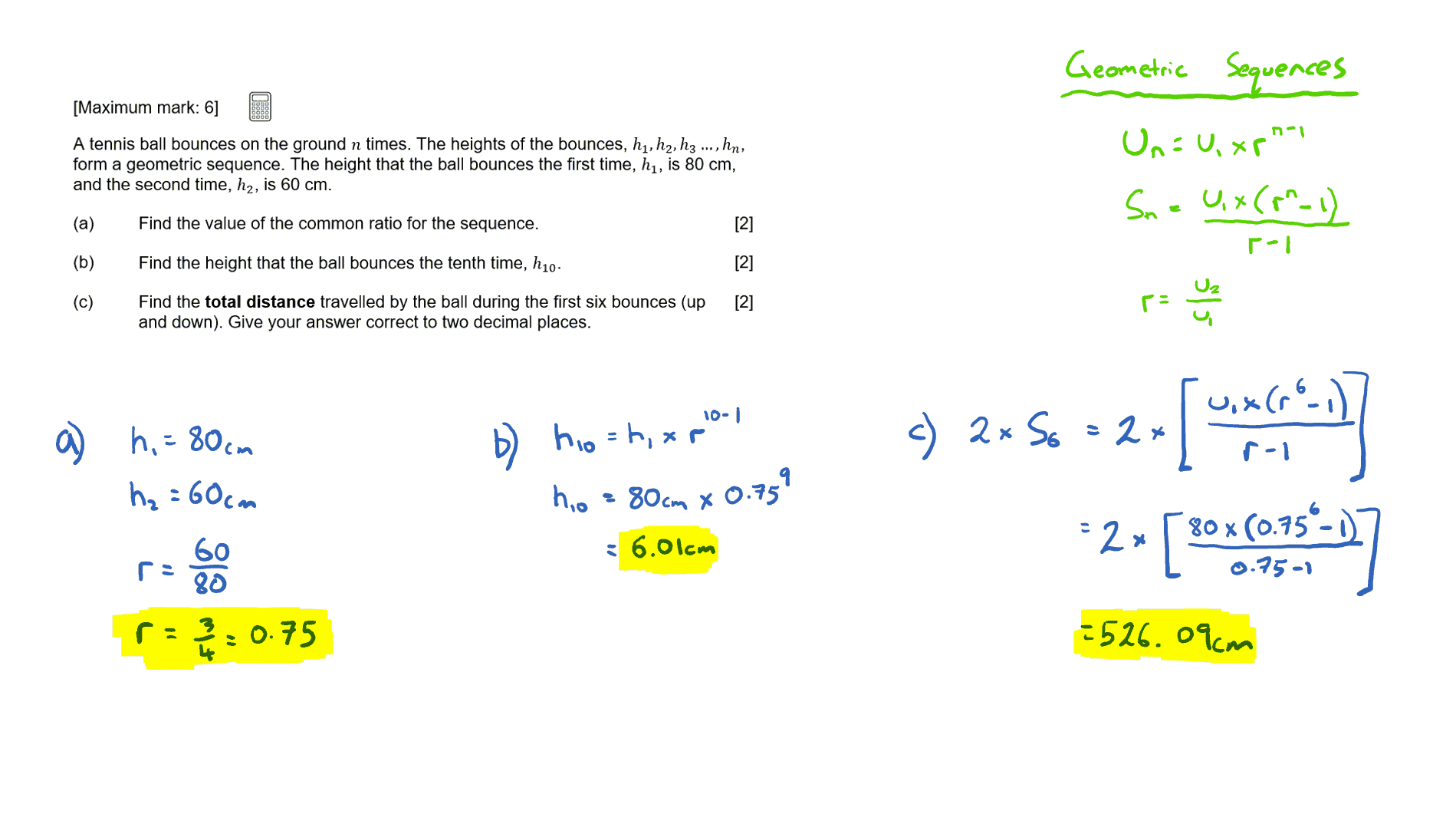 IB Maths Studies Questionbank - Sequences and Series