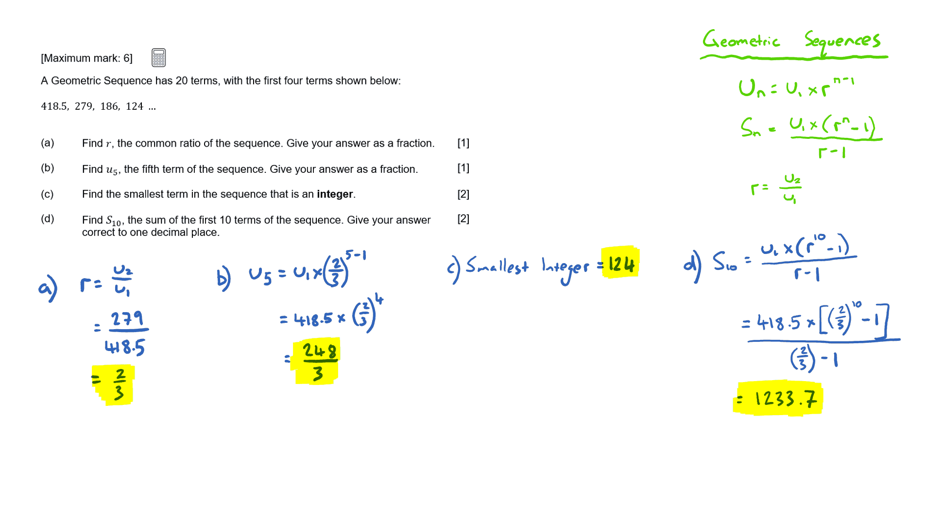 sequences and series maths ia Sequences and series practice test find the three terms in the sequence after the last one given 21) 2, −12 , 72 , −432.