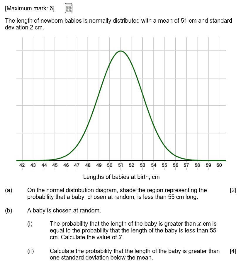 IB Maths Studies Exam Question - Statistical Application