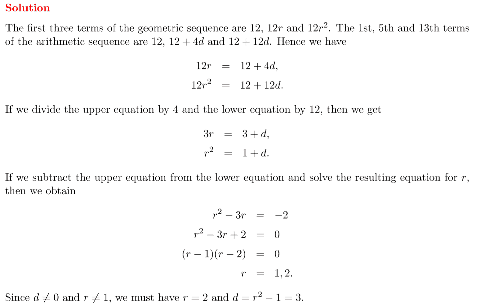 ib maths hl questionbank sequences and series