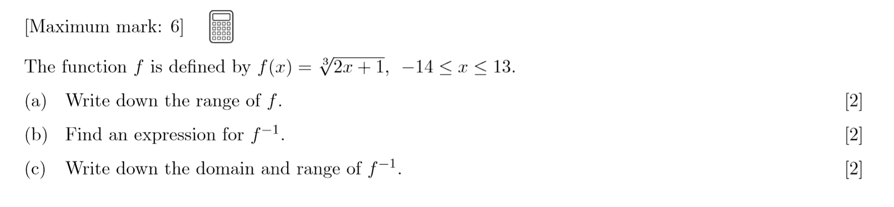 IB Maths HL Exam Question - Functions and Equations