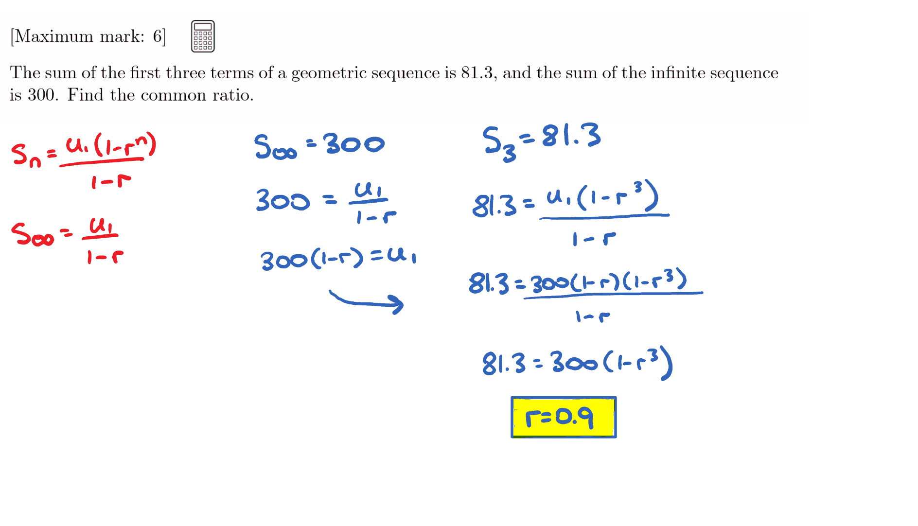 IB Maths SL Questionbank - Sequences and Series