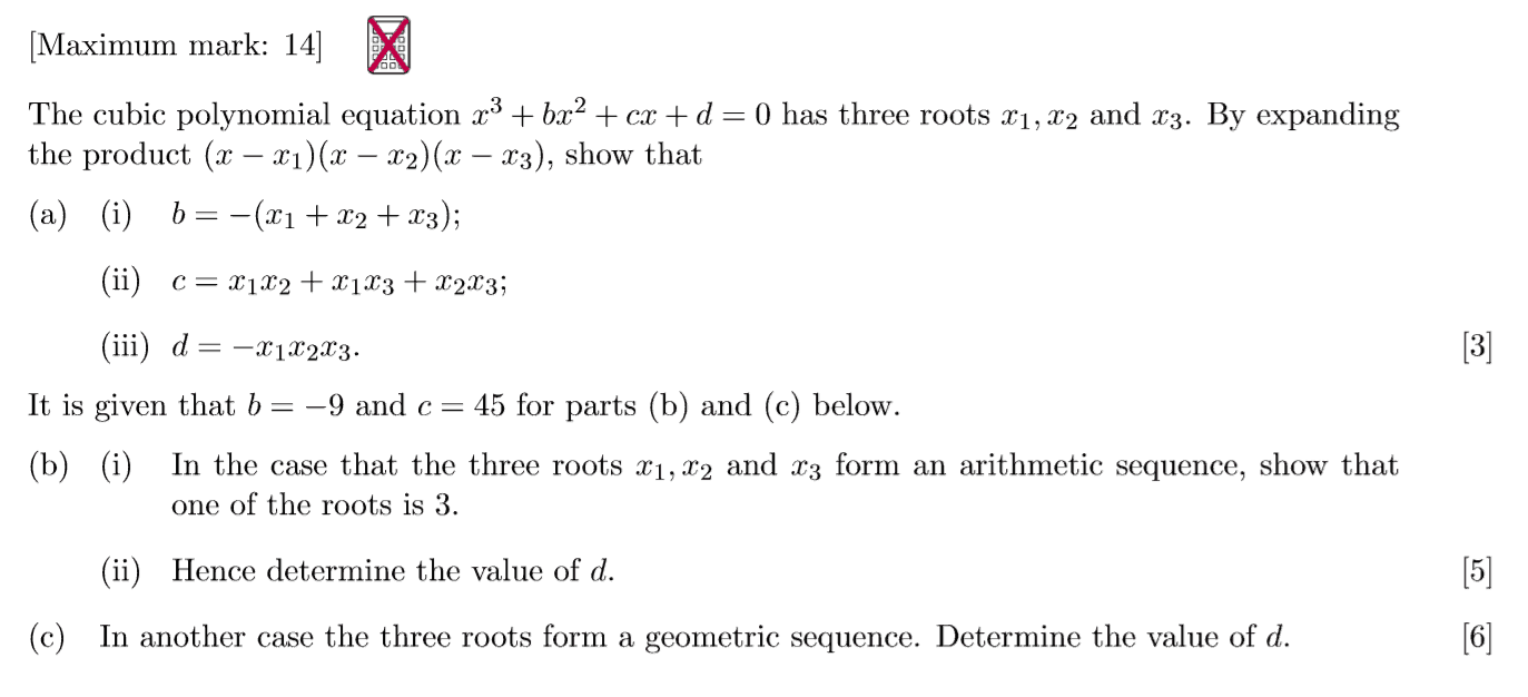 IB Maths HL Questionbank - Sequences and Series